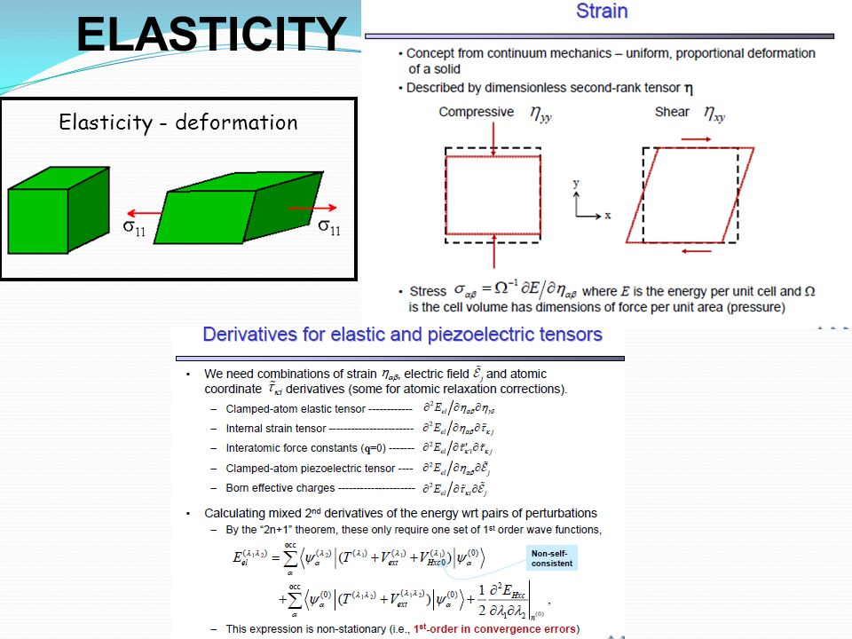 Elasticity - deformation