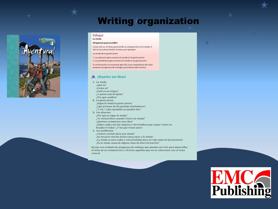 Writing organization
