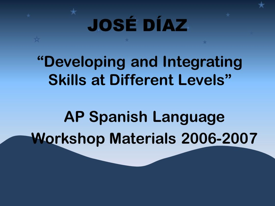 Developing and Integrating Skills at Different Levels