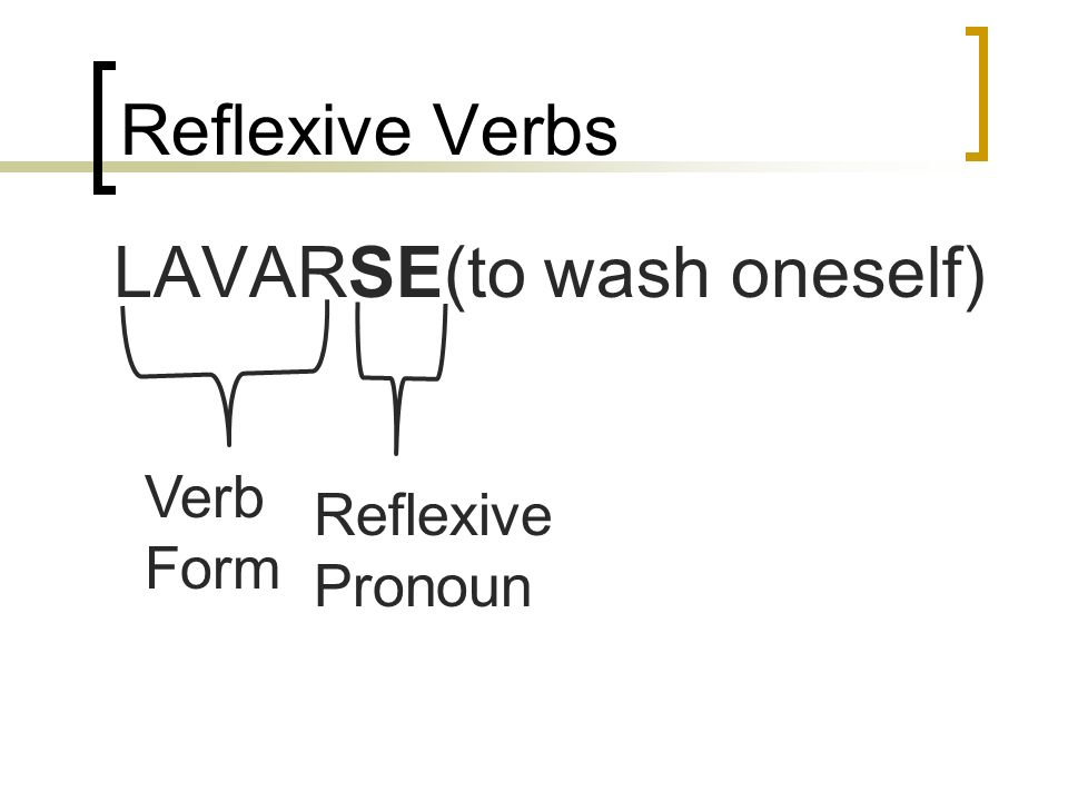 LAVARSE(to wash oneself)