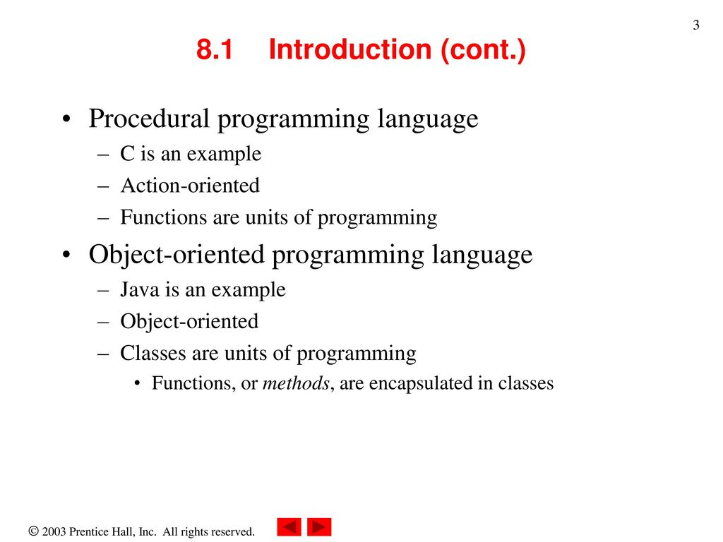 Chapter 8 object based programming ppt download procedural programming language baditri Image collections