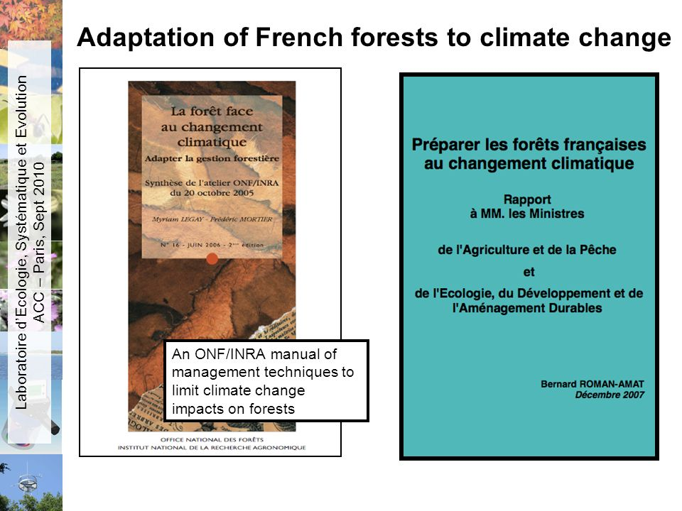 Adaptation of French forests to climate change
