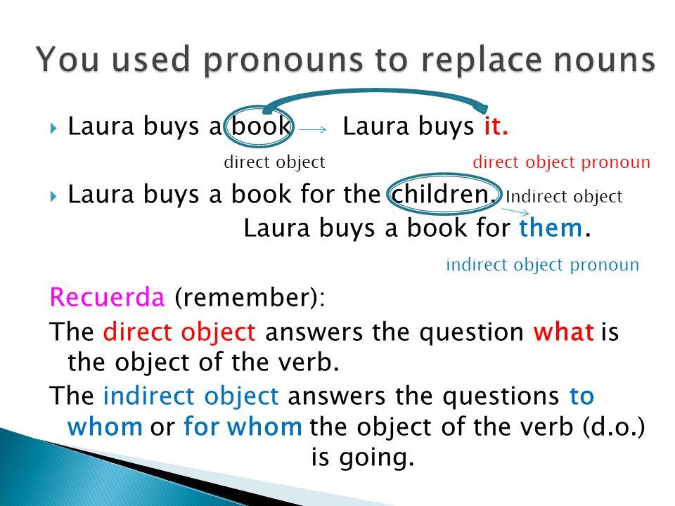 You used pronouns to replace nouns