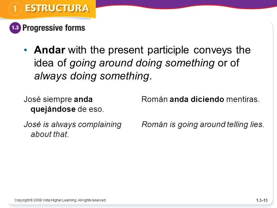 Andar with the present participle conveys the idea of going around doing something or of always doing something.