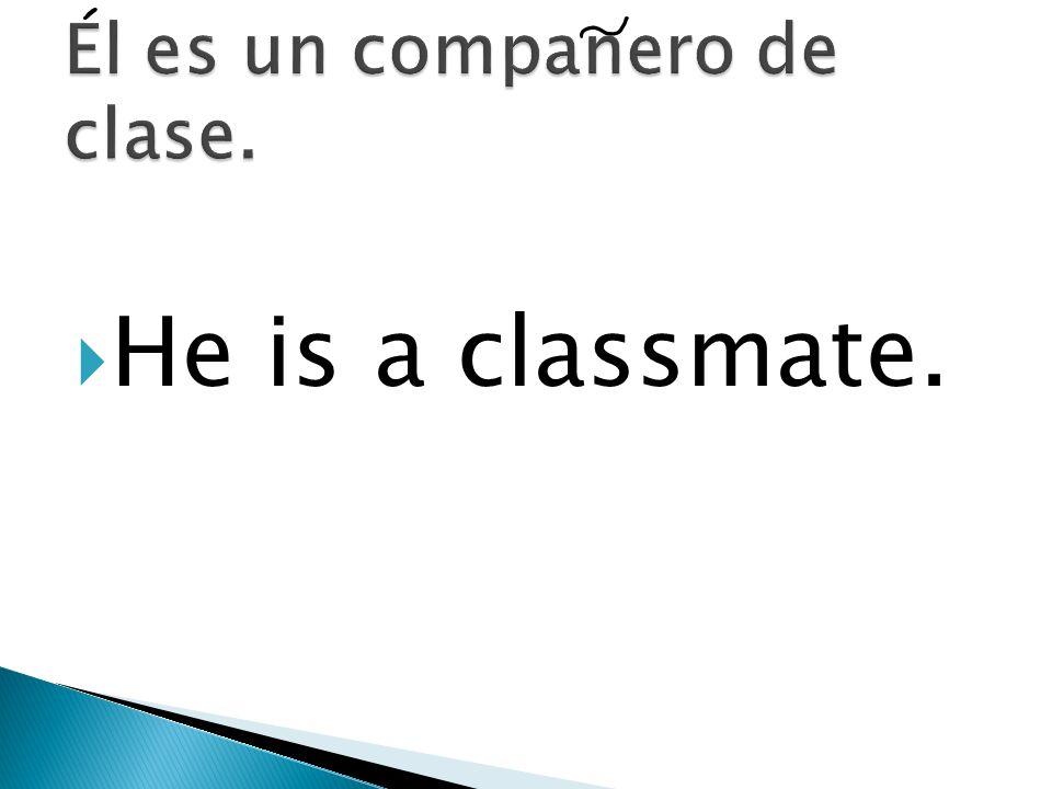 El es un companero de clase.