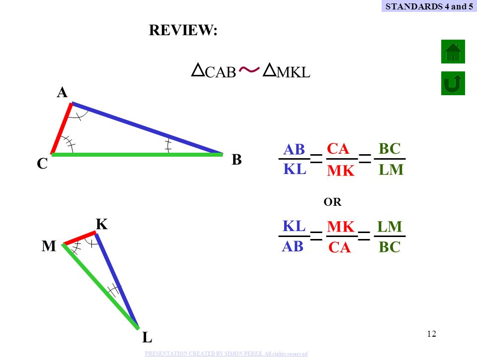 REVIEW: CAB MKL A CA AB BC B C LM MK KL KL AB MK CA LM BC K M L OR