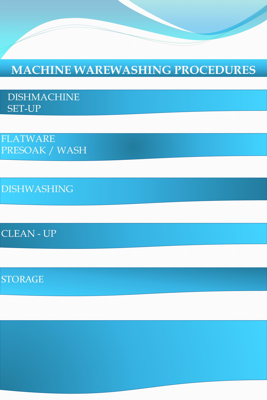 MACHINE WAREWASHING PROCEDURES