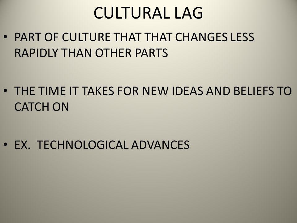 cultural lag or cultural drag
