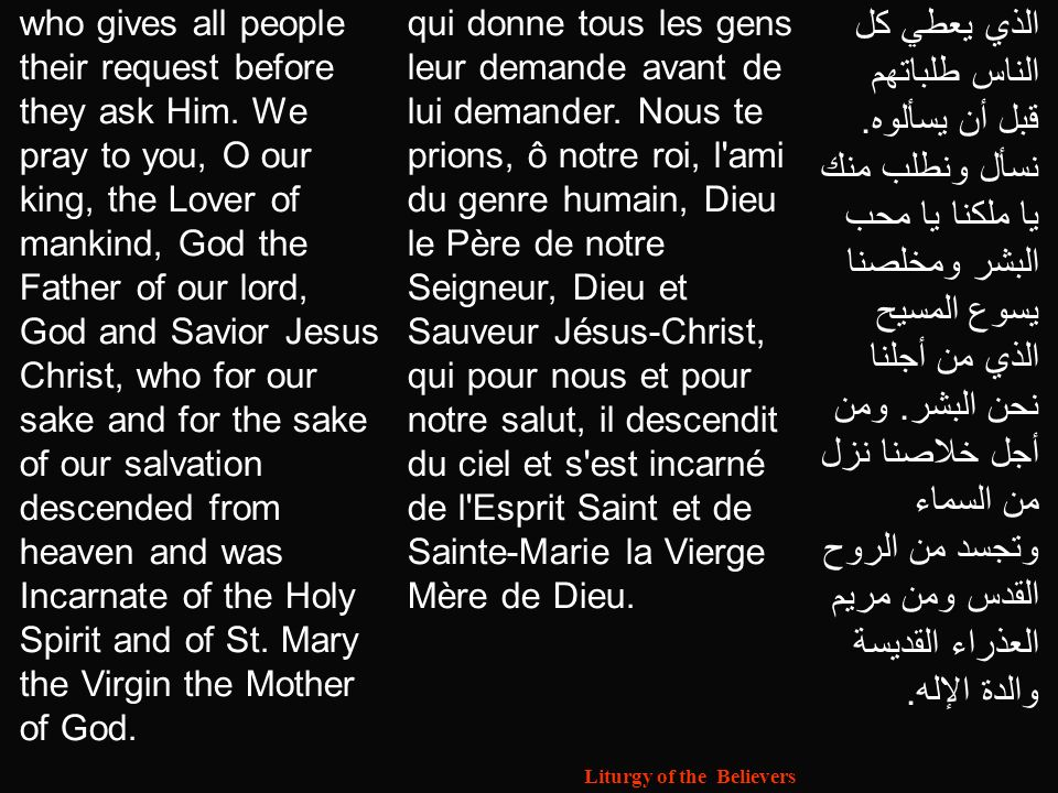 Liturgy of the Believers