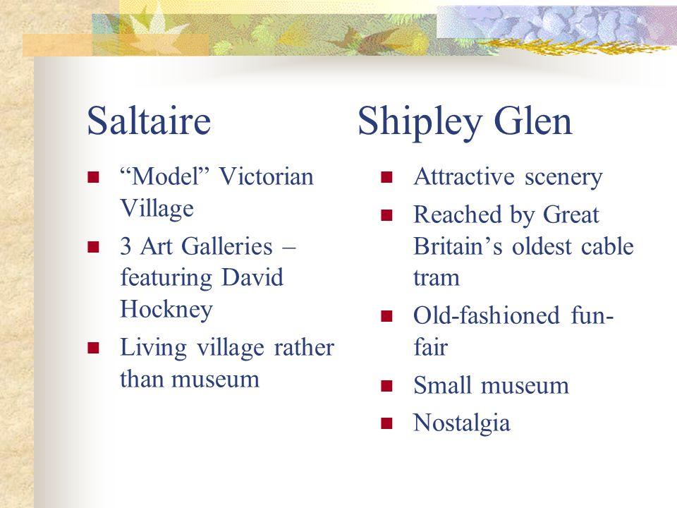 Saltaire Shipley Glen Model Victorian Village