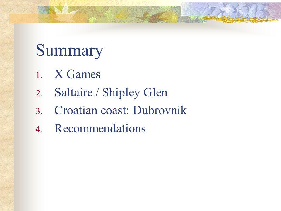 Summary X Games Saltaire / Shipley Glen Croatian coast: Dubrovnik