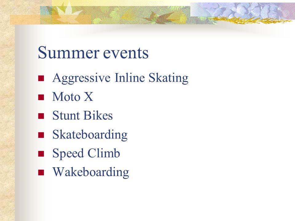 Summer events Aggressive Inline Skating Moto X Stunt Bikes