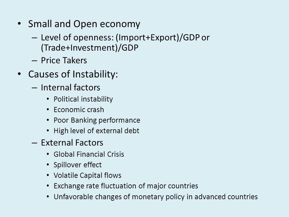 Securing Financial Stability for a Small and Open Economy ...