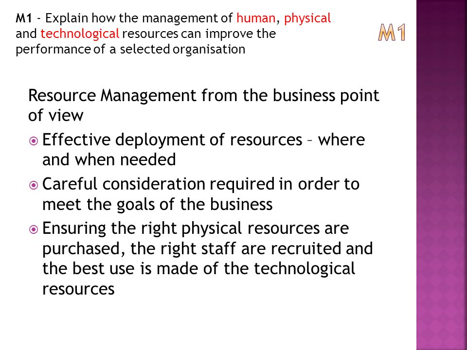 m1 explain how to manage an Human resources touches all elements of an organization from hiring to wage and benefit management, hr monitors the worker experience to keep a business running smoothly.