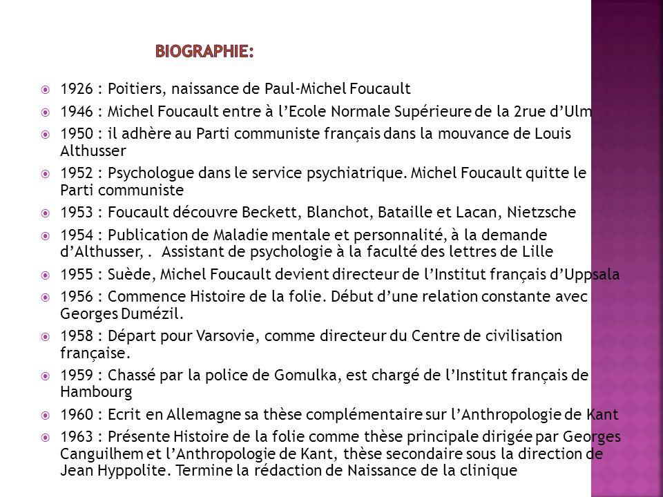 Biographie: 1926 : Poitiers, naissance de Paul-Michel Foucault
