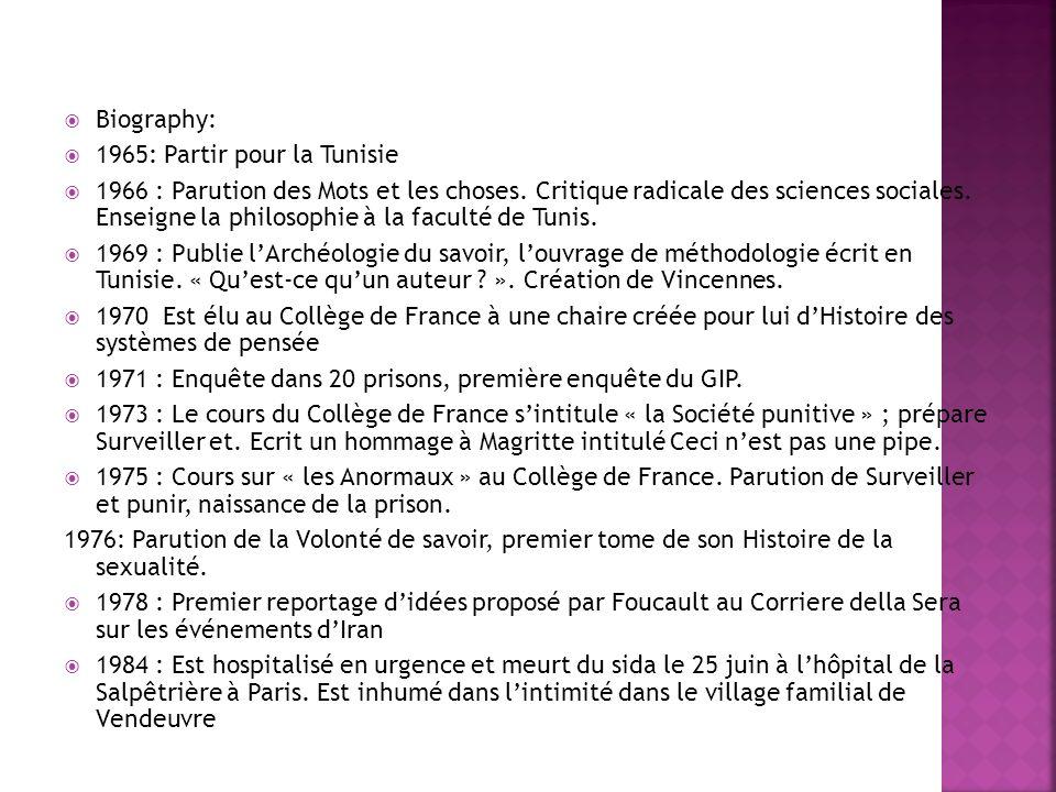 Biography: 1965: Partir pour la Tunisie.