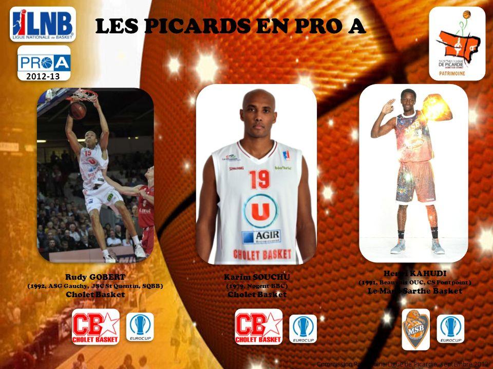 LES PICARDS EN PRO A 2012-13 Henri KAHUDI Le Mans Sarthe Basket