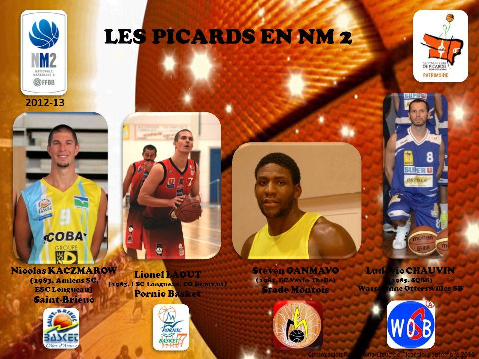 LES PICARDS EN NM 2 2012-13 Nicolas KACZMAROW Saint-Brieuc