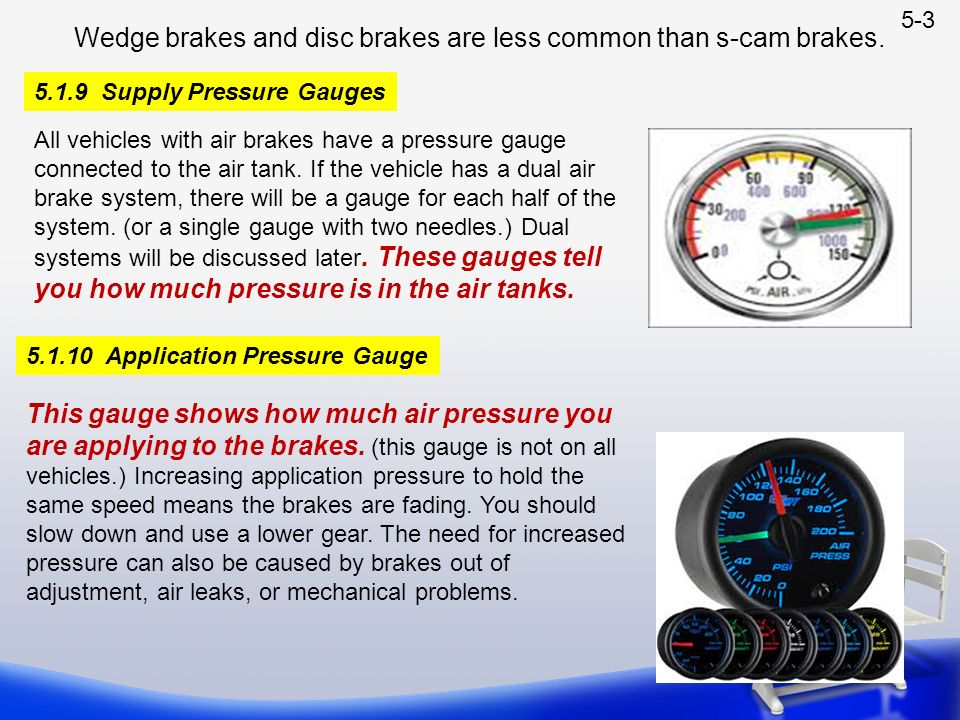 Air Brake Problem Chart : This section is for drivers who operate vehicles with air