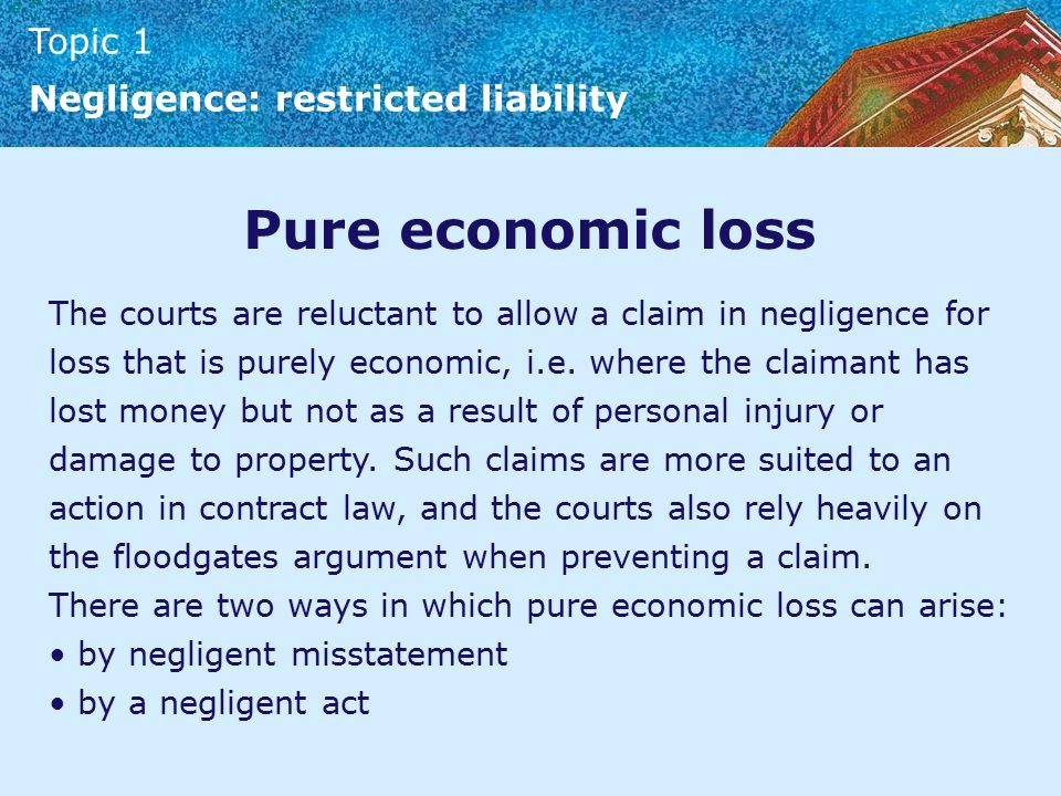 negligence psychiatric loss economical loss Tort law covering economic loss defamation psychiatric in tort law covering economic loss defamation psychiatric injury law essay but under negligence rule.