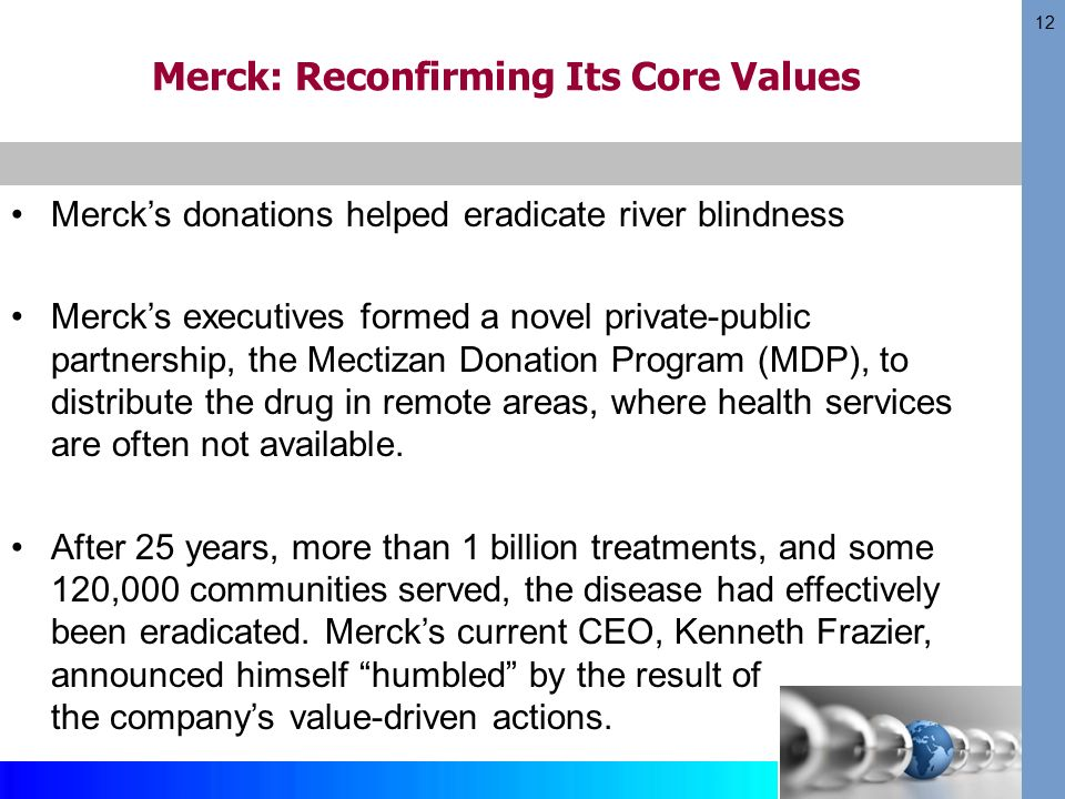merck and river blindness Video created by university of illinois at urbana-champaign for the course global impact: business ethics you will become familiar with the course, your classmates, and our learning environment.