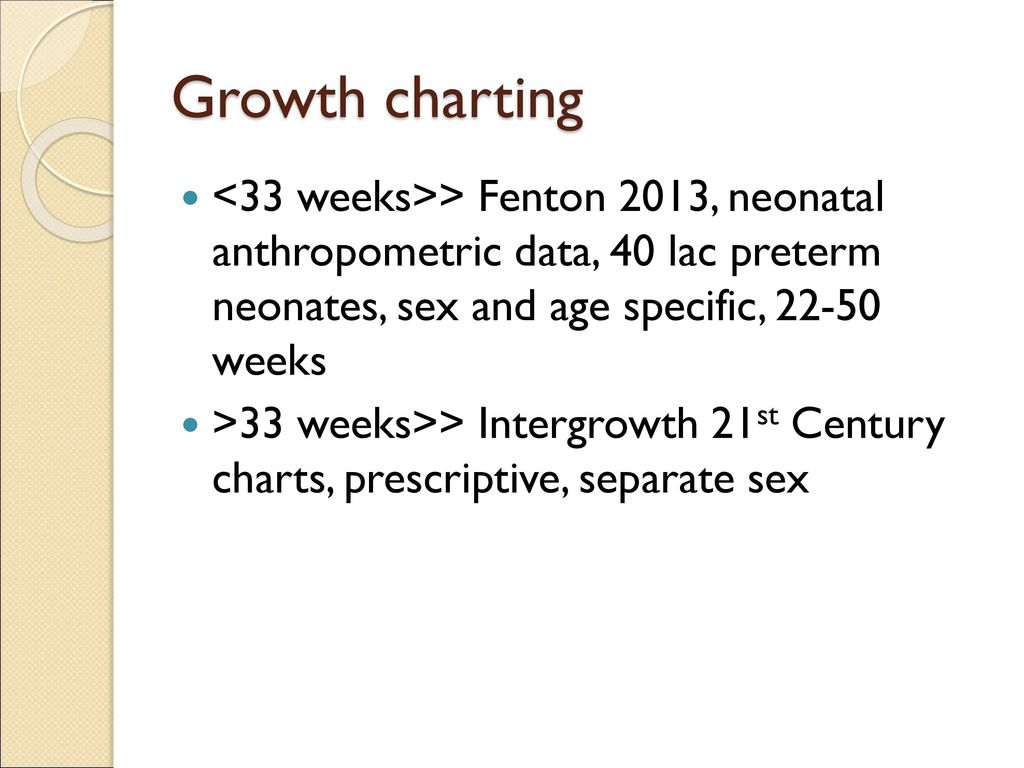 Nutritional supplementation can reduce infants mortality ppt 33 growth charting 33 weeks fenton 2013 nvjuhfo Images