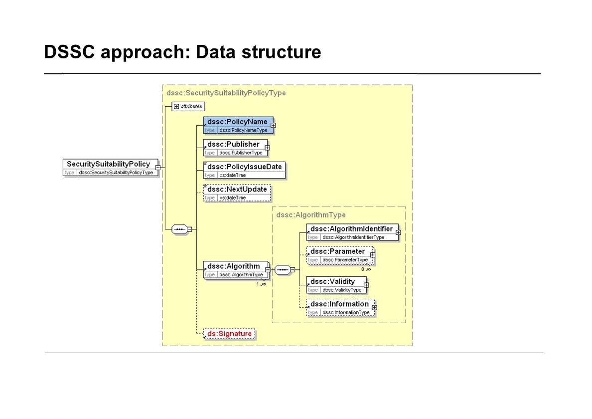DSSC approach: Data structure