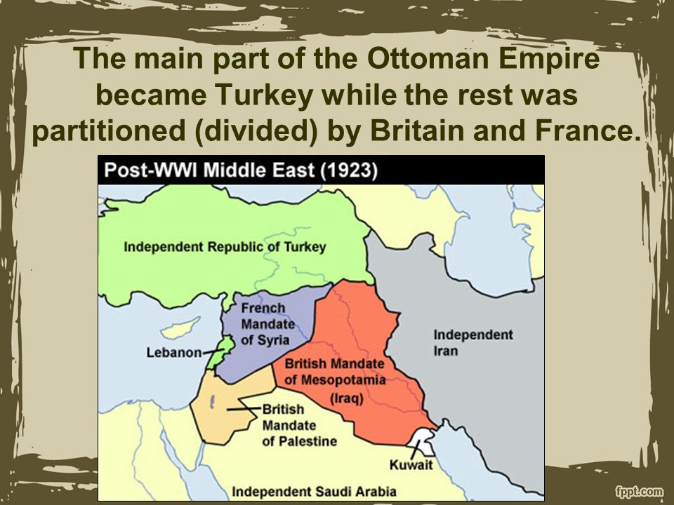 Breakup Of Ottoman Empire Breakup Of The Ottoman Empire