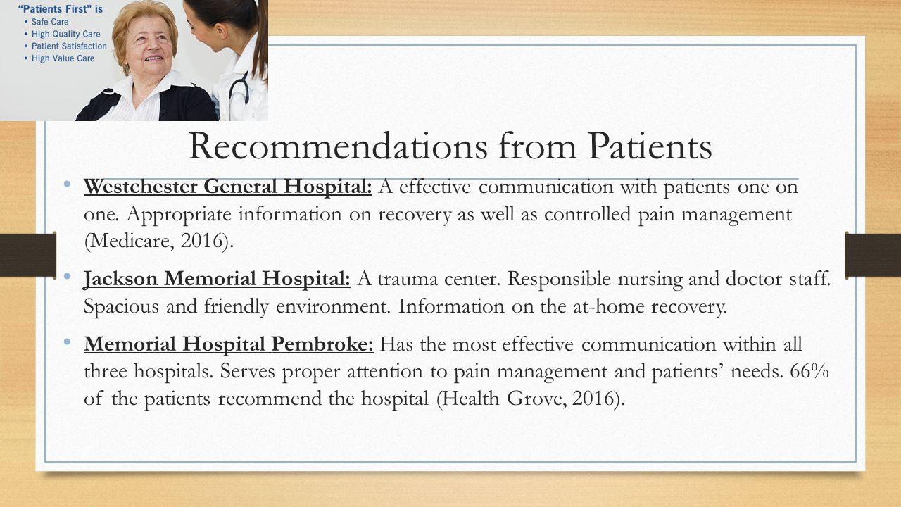 Recommendations from Patients