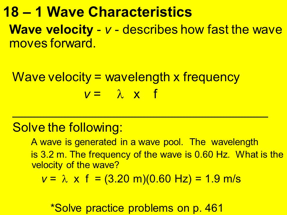 Chapter 18 Waves and Sound ppt video online download – Wave Characteristics Worksheet