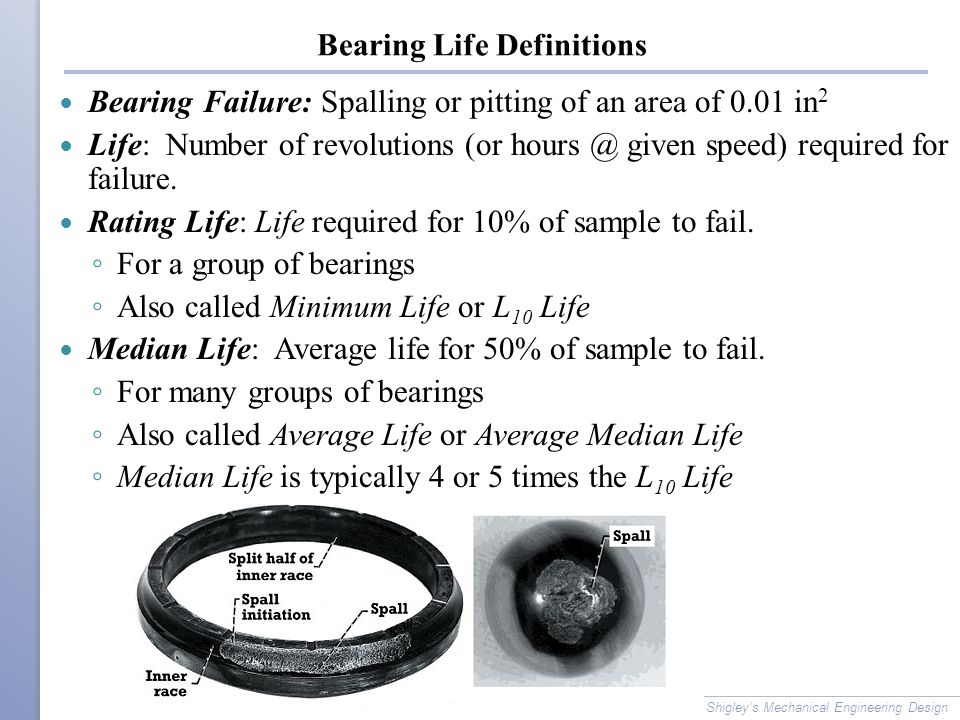 Bearing Life Definitions