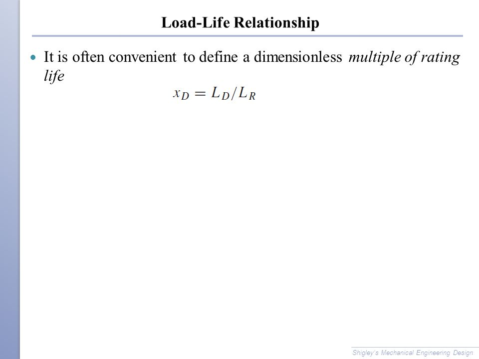 Load-Life Relationship