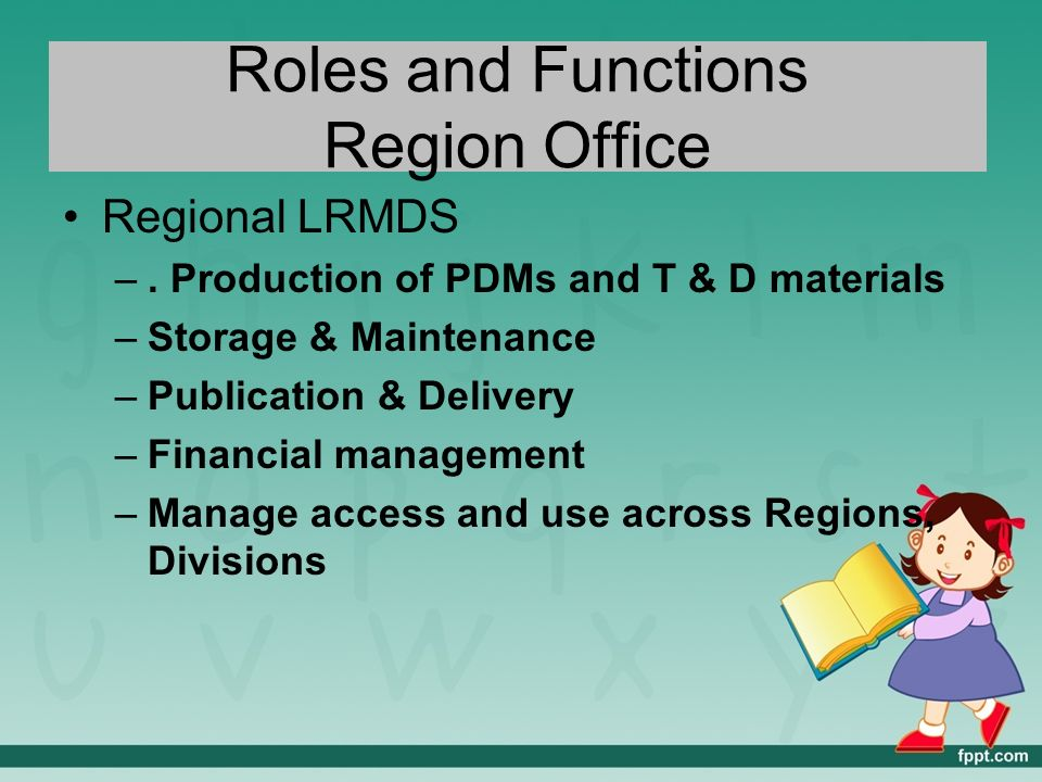 Learning resources management and development system ppt video online download - Role of an office manager ...
