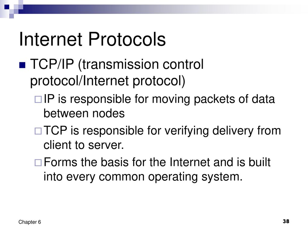 transmission control protocol and internet protocol essay Tcp provides a communication service at an intermediate level between an  application program and the internet protocol (ip) with the evolution of third.
