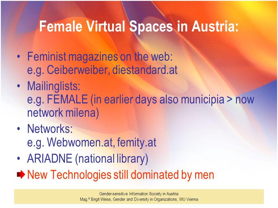 Female Virtual Spaces in Austria: