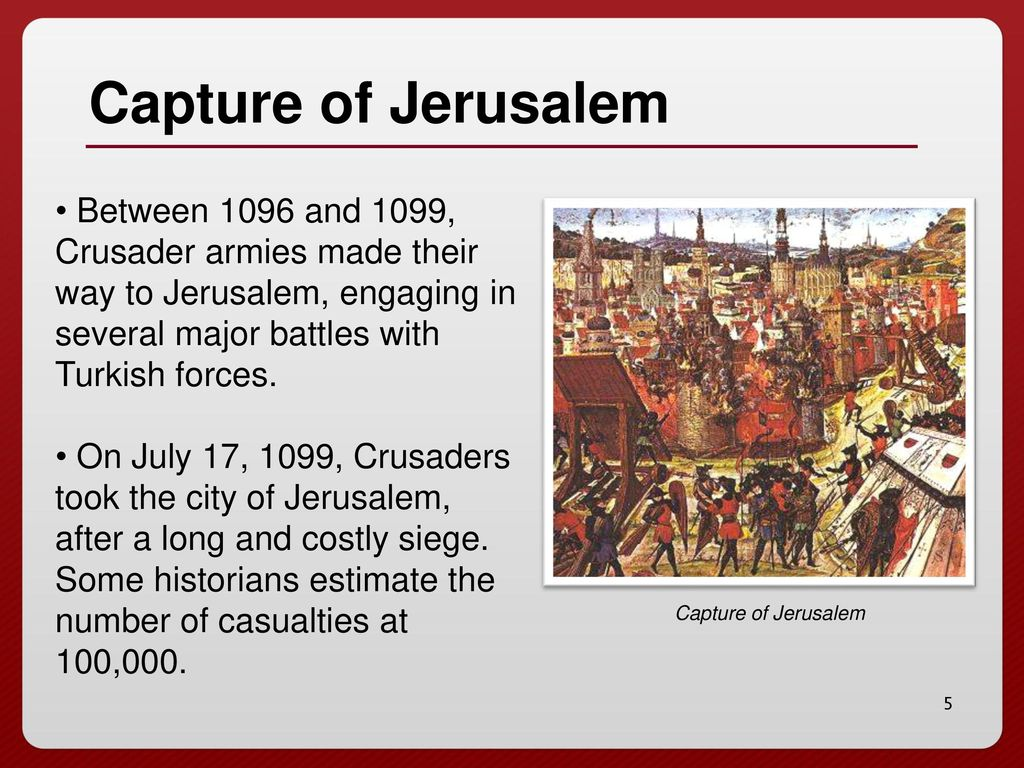 The First Crusade Ppt Download - Major battles of the crusades