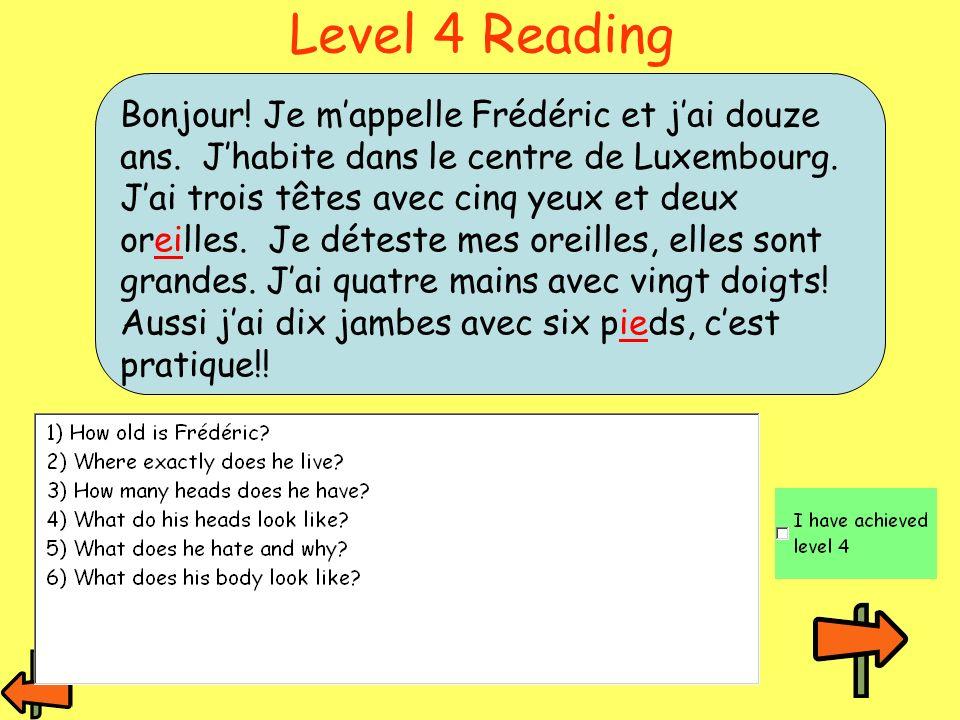 Level 4 Reading