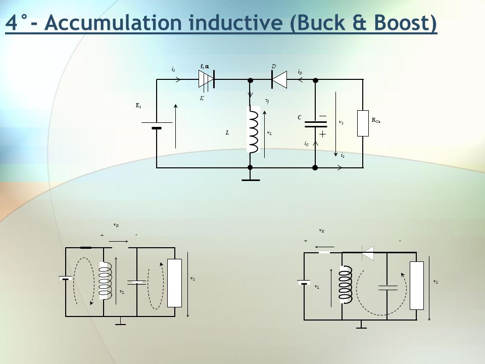 4°- Accumulation inductive (Buck & Boost)