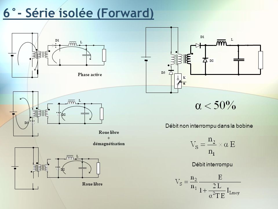 6°- Série isolée (Forward)