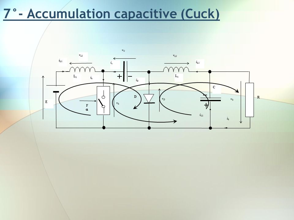7°- Accumulation capacitive (Cuck)