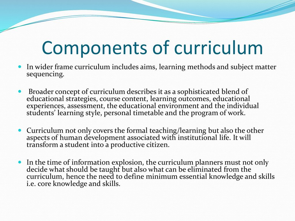 advanced studies in curriculum development Graduate studies staff the programs are intended to provide the student with advanced knowledge in curriculum, research  curriculum development: 3: edci 638:.