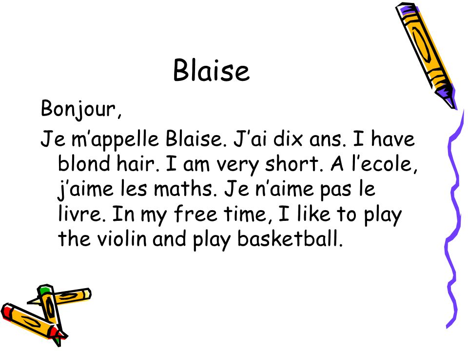 Blaise Bonjour,