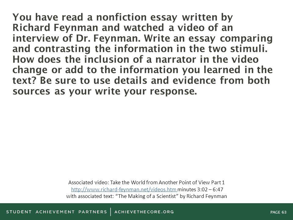 comparing abd contrasting teache standards essay