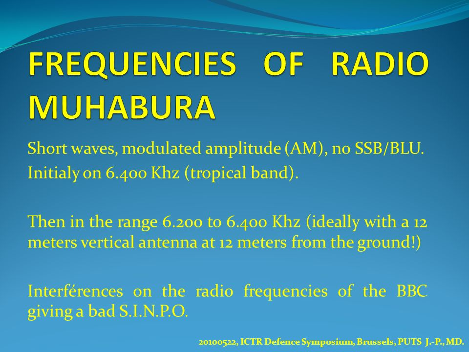 FREQUENCIES OF RADIO MUHABURA