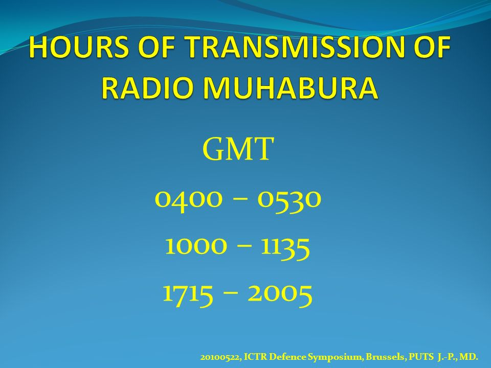 HOURS OF TRANSMISSION OF RADIO MUHABURA