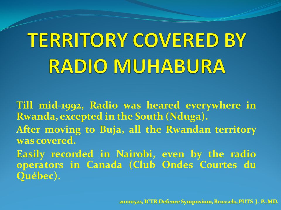 TERRITORY COVERED BY RADIO MUHABURA