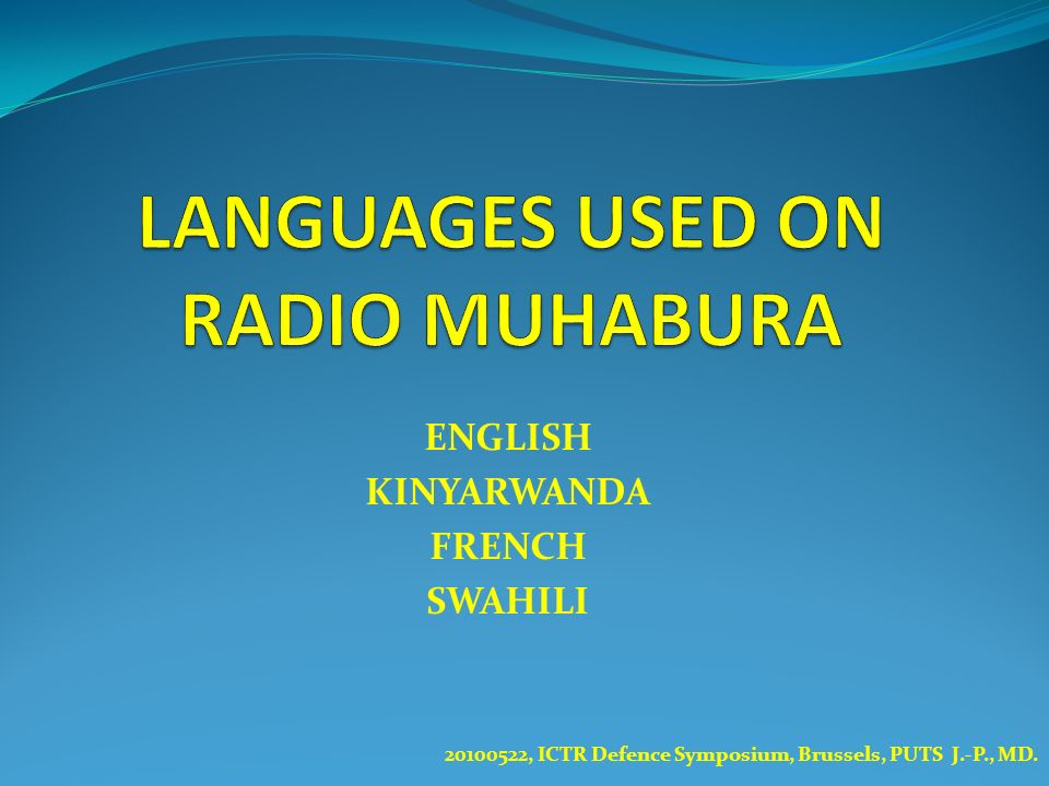 LANGUAGES USED ON RADIO MUHABURA