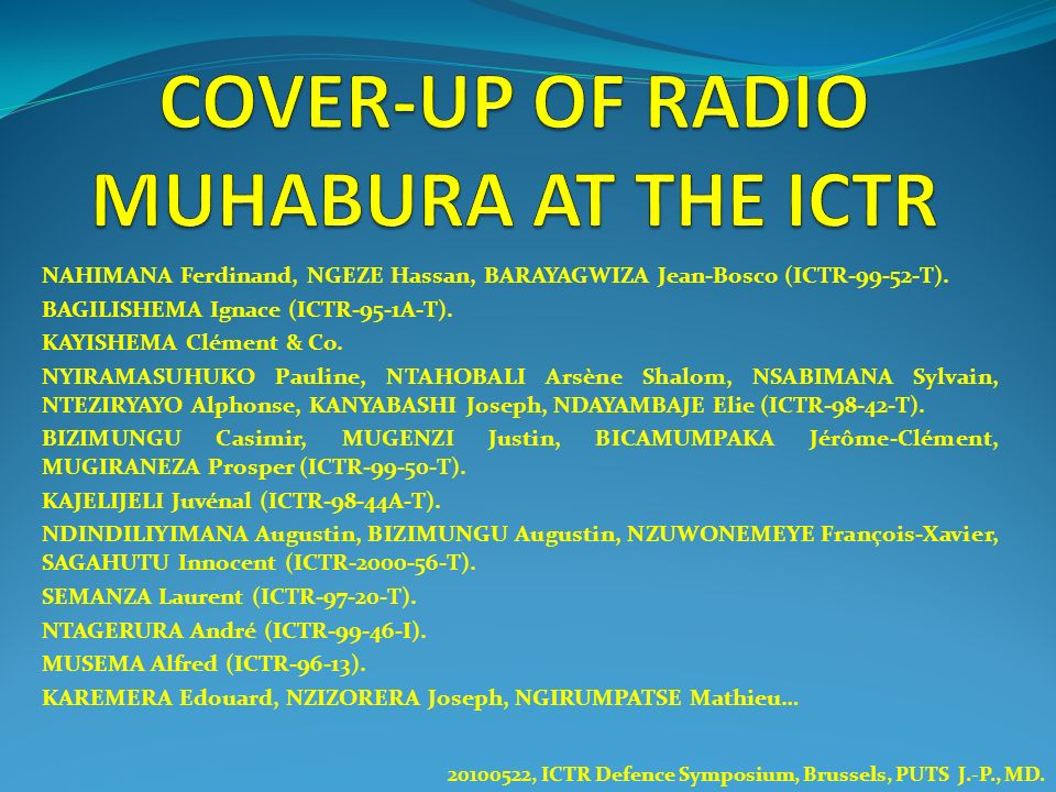 COVER-UP OF RADIO MUHABURA AT THE ICTR