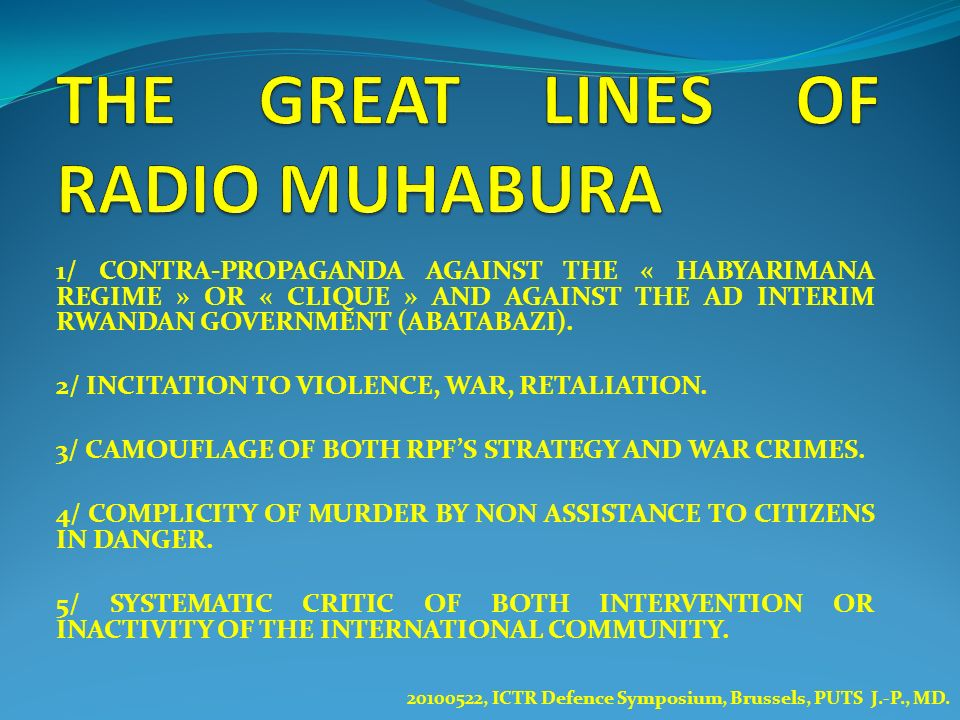 THE GREAT LINES OF RADIO MUHABURA