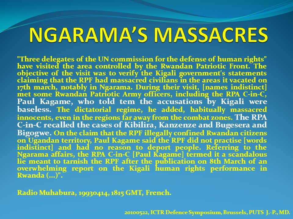 NGARAMA'S MASSACRES